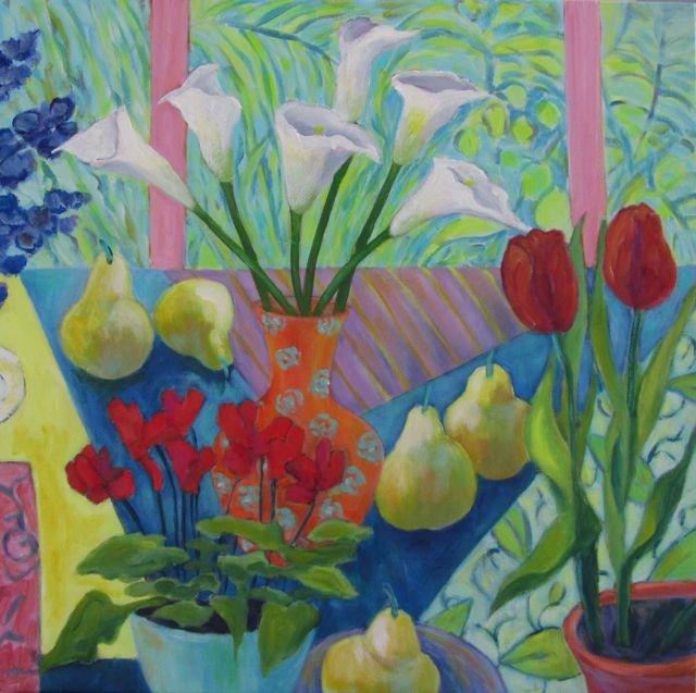 """Still Life Triptych (centre)"" original fine art by Patricia MacDonald"