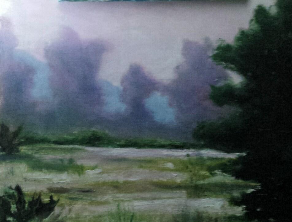 """MISTY MORNING"" original fine art by Tracy Wilkerson"