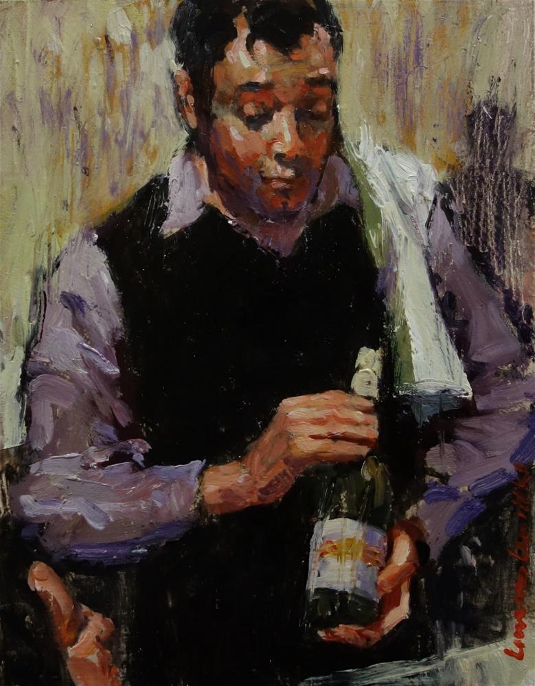 """Passionate Waiter"" original fine art by Lorraine Lewitzka"