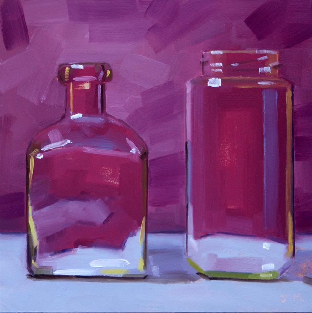 """Duo in Purple"" original fine art by Jiyoung Kim"