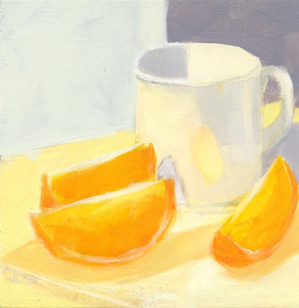 """Three Slices and a Cup"" original fine art by Mitch Egeberg"