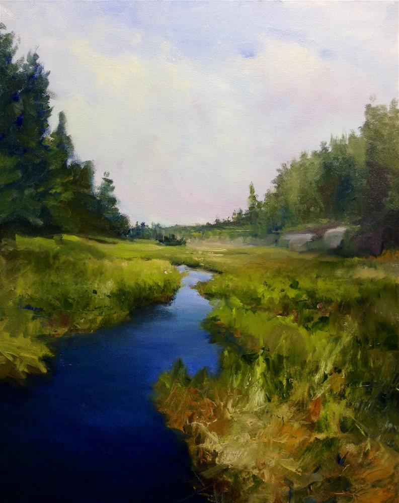 """Wonderful Wetland"" original fine art by Cathy Boyd"