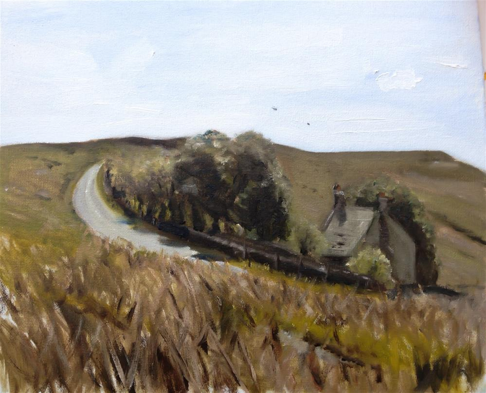 """Farmhouse, Stanange Edge, Peak District"" original fine art by James Coates"