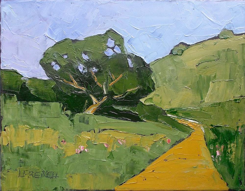 """""""California Hills & Oak"""" original fine art by lynne french"""