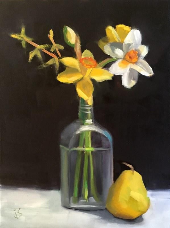 """Daffodils for You"" original fine art by Johnna Schelling"