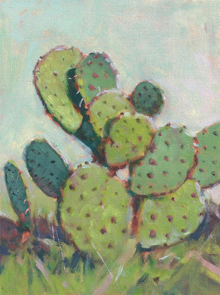 """Cactus"" original fine art by David Forks"