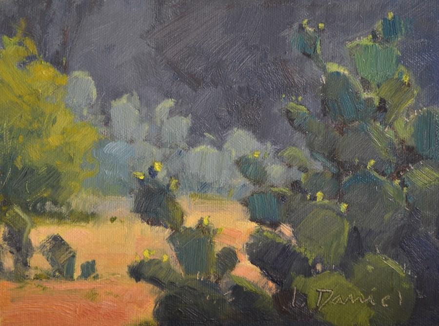 """Budding Cactus"" original fine art by Laurel Daniel"