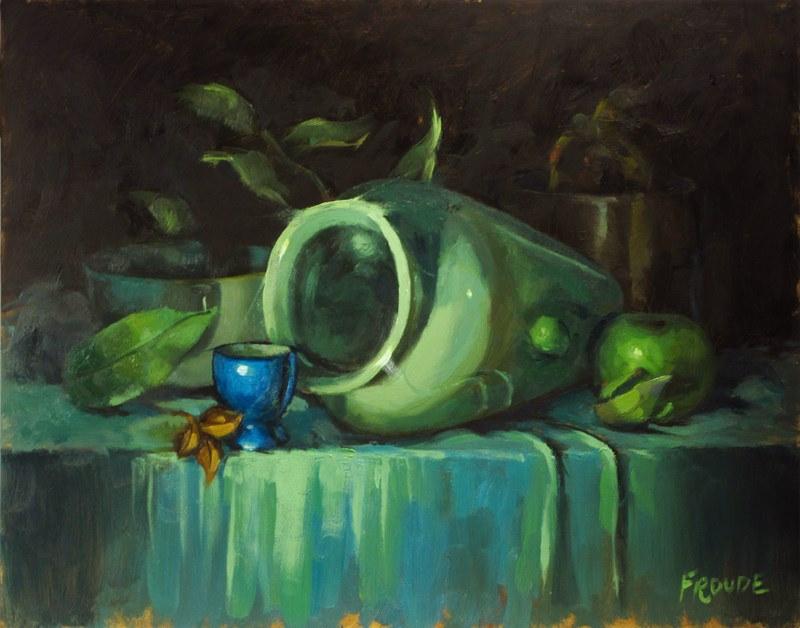 """Blue egg cup"" original fine art by Dave Froude"