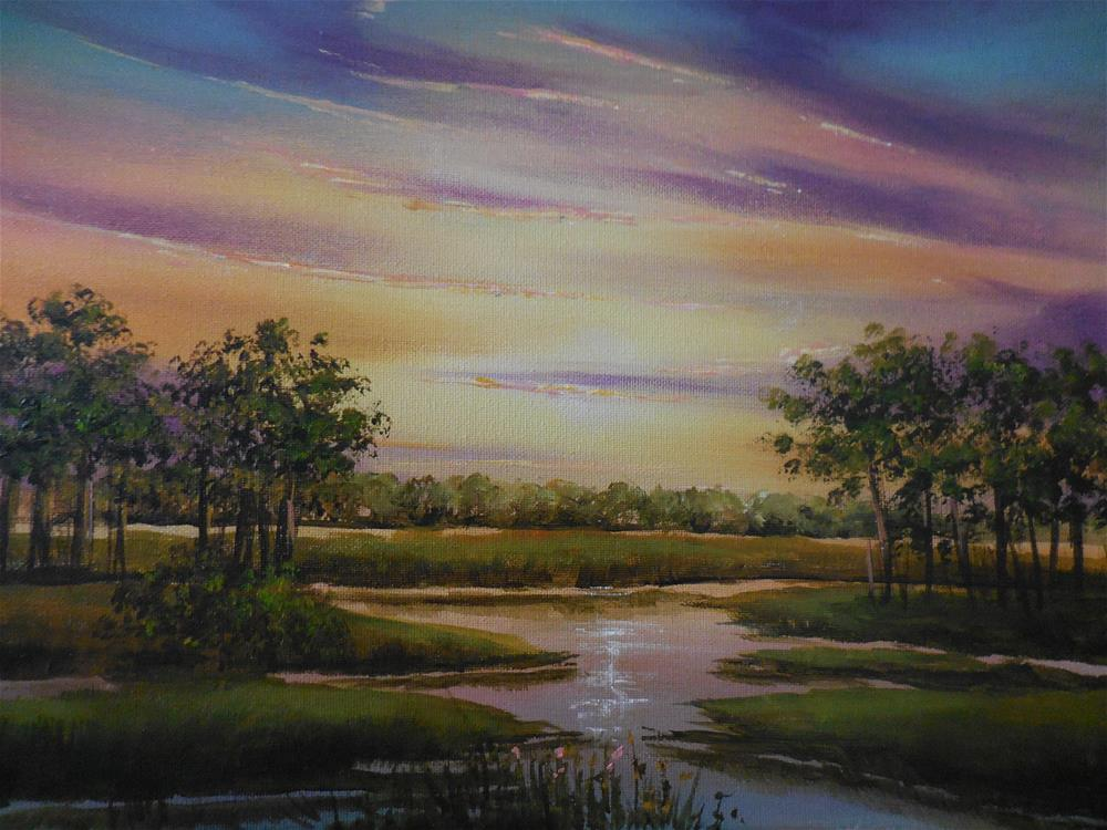 """Sunrise Over the Marshes"" original fine art by Terri Nicholson"