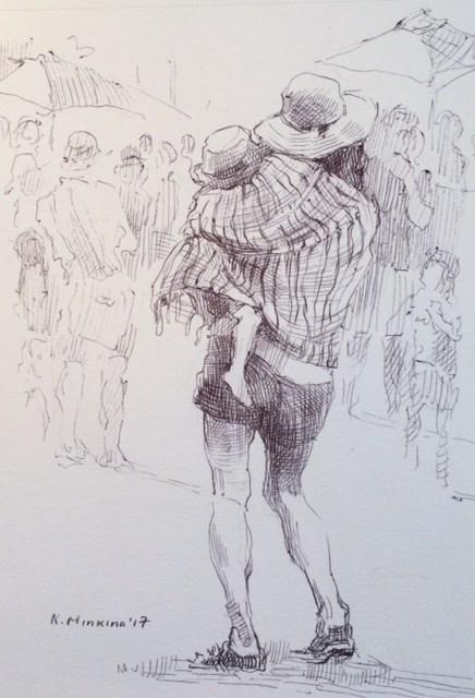 """hanasketching25"" original fine art by Katya Minkina"