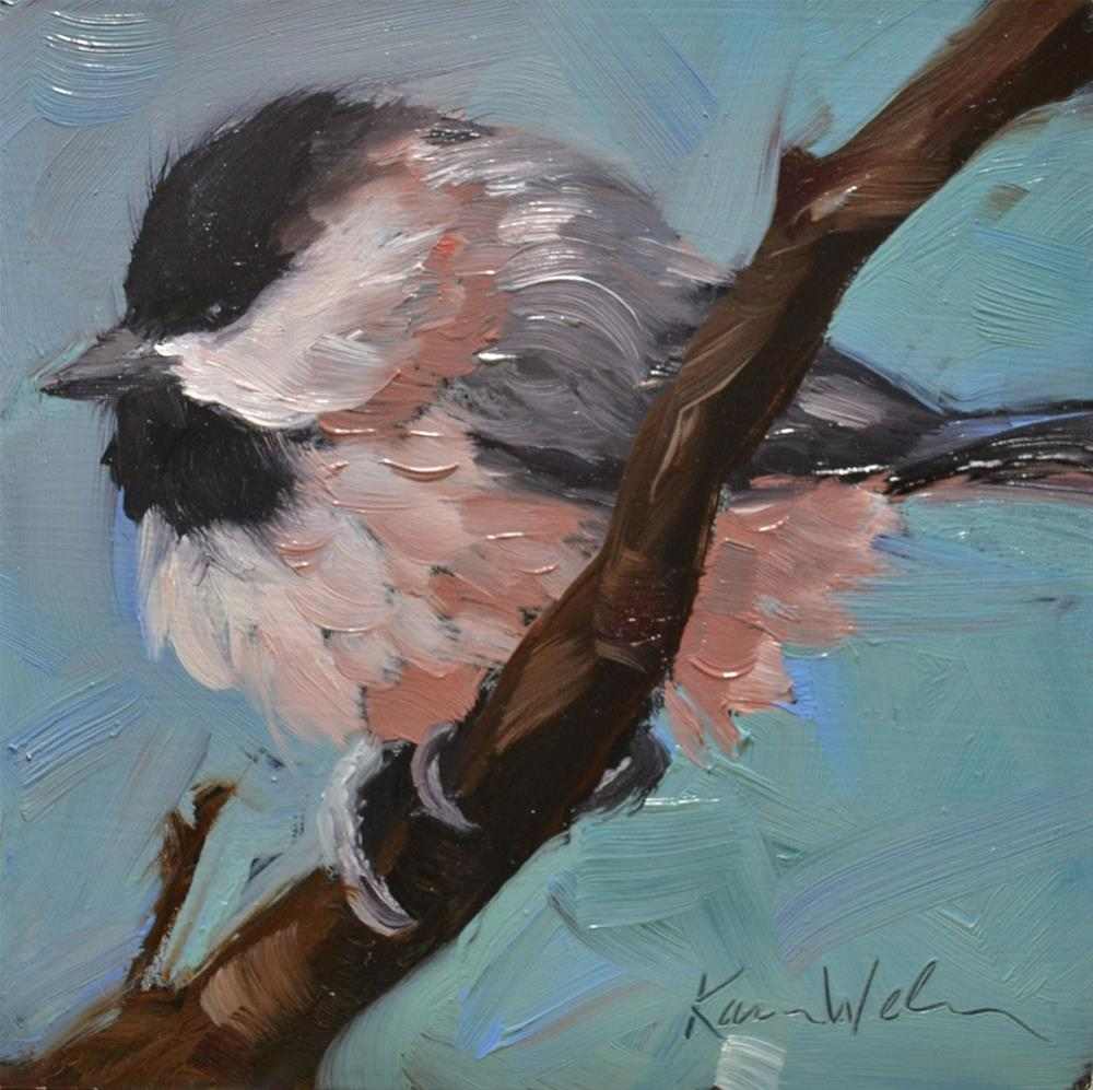 """Little Chicky"" original fine art by Karen Weber"