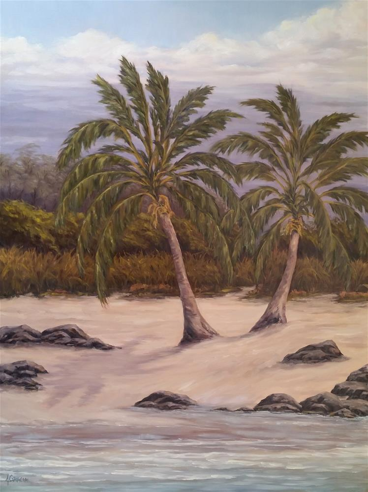"""Twin Palms"" original fine art by Jeannie Garcia"