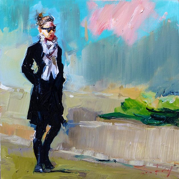 """strolling"" original fine art by Jurij Frey"
