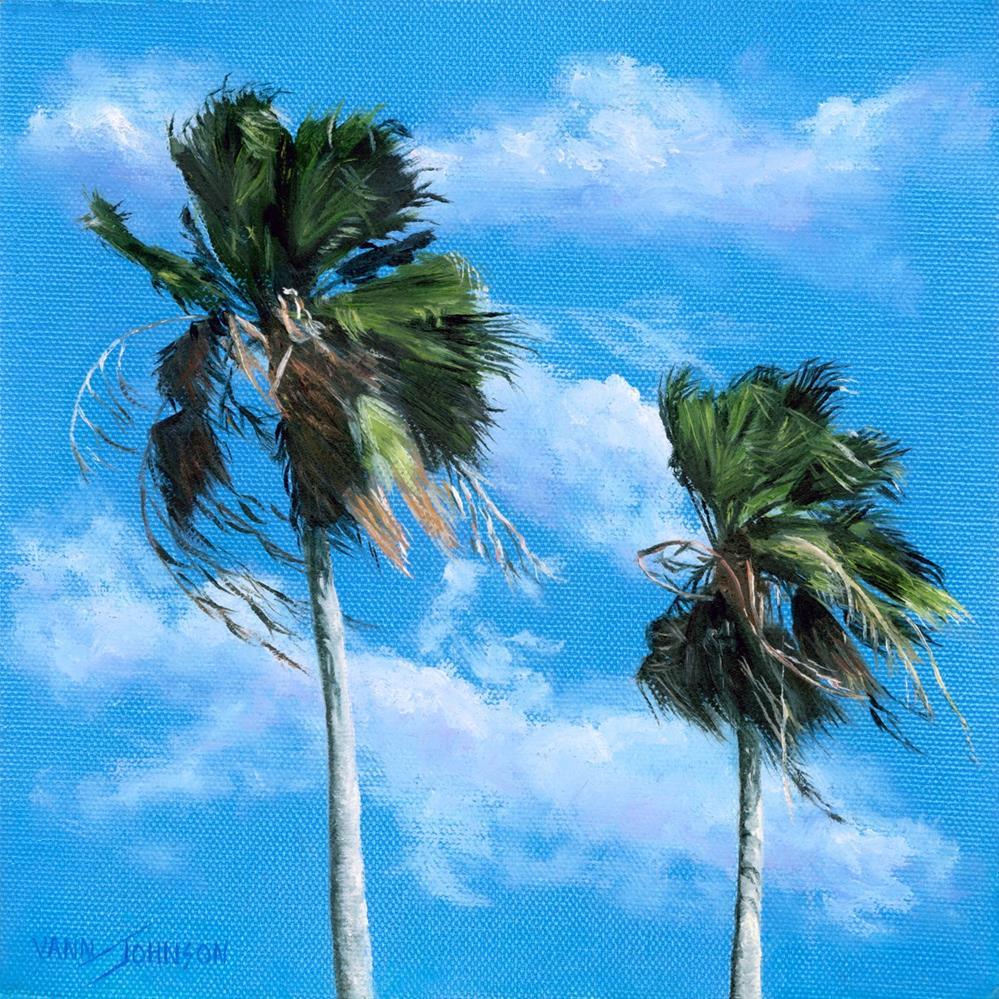 """Breezy Palms"" original fine art by Wendi Vann Johnson"