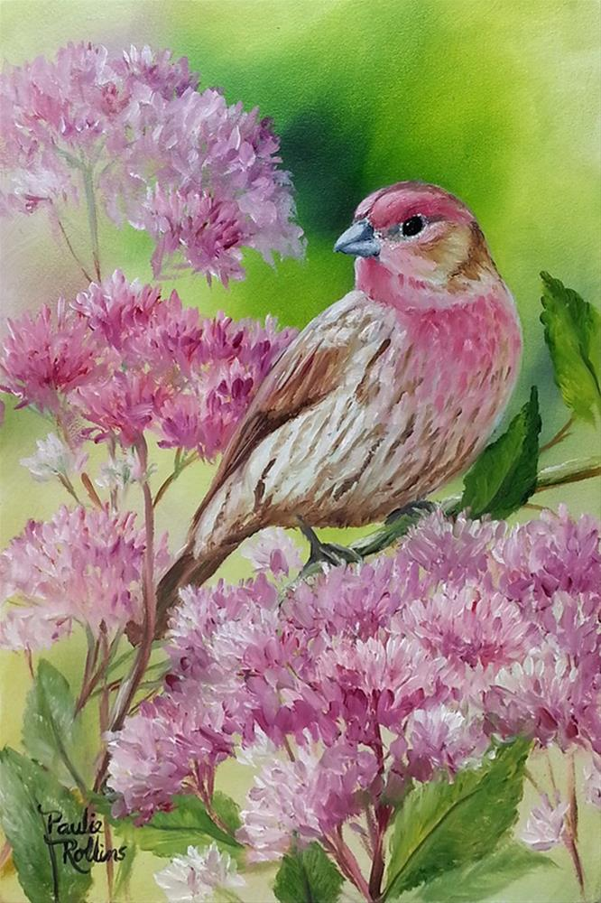 """Blushing Weeds"" original fine art by Paulie Rollins"
