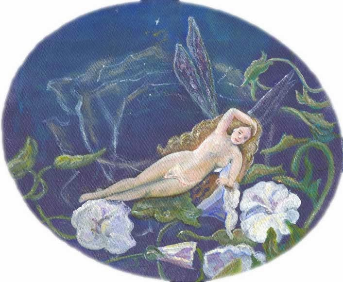 """Night Fairy"" original fine art by Kara Butler English"