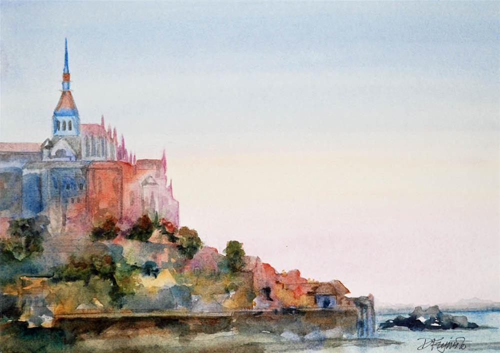 """Mont St. Michel"" original fine art by Diane Fujimoto"