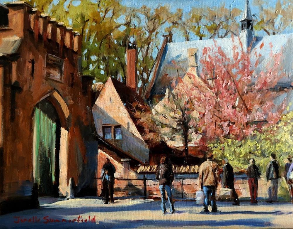 """Sunny Day in Bruges"" original fine art by Jonelle Summerfield"