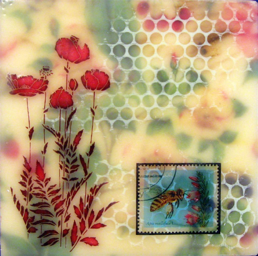 """""""Save the Bees"""" original fine art by Danielle M. Le  Bris"""