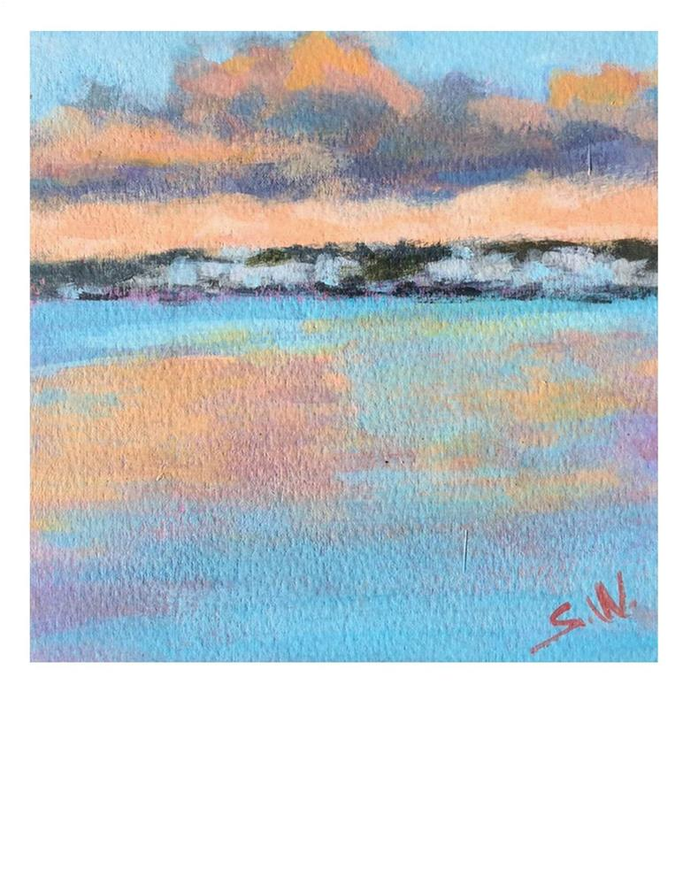 """Orange And Blue"" original fine art by Suzanne Woodward"