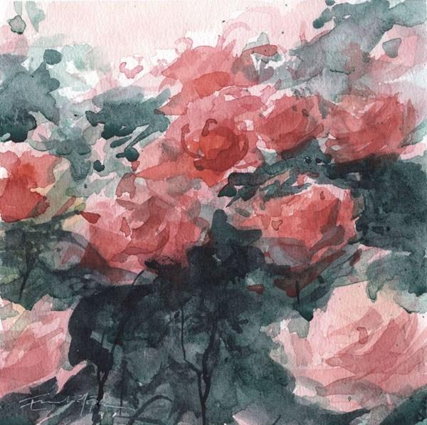 """""""flores 11"""" original fine art by Emilio López"""