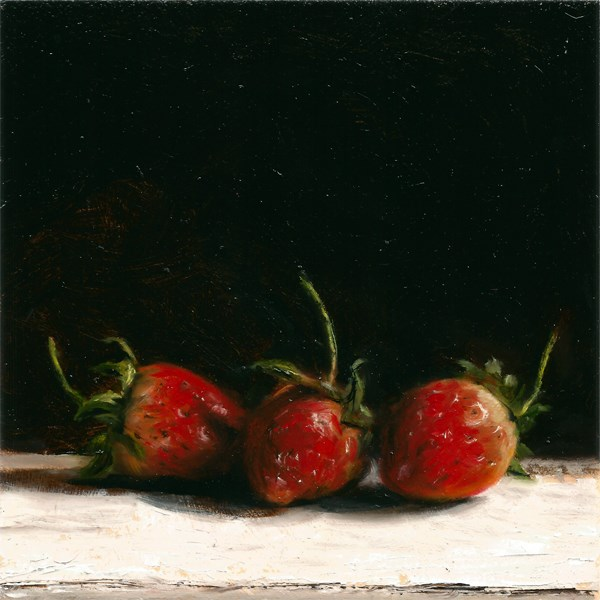 """New Season Strawberries #2"" original fine art by Peter J Sandford"