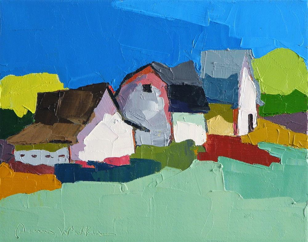 """Close Knit IV"" original fine art by Donna Walker"