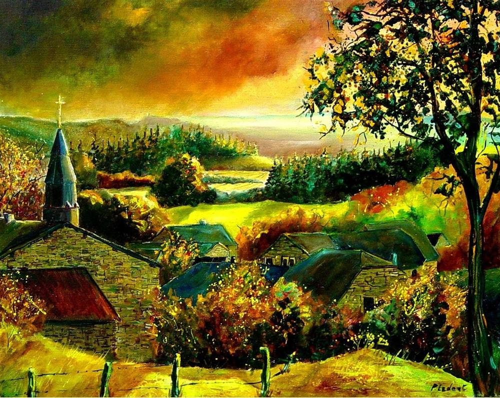 """autumn in ouroy"" original fine art by Pol Ledent"