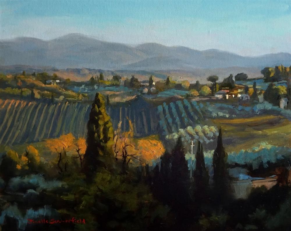 """""""Tuscan Landscape"""" original fine art by Jonelle Summerfield"""