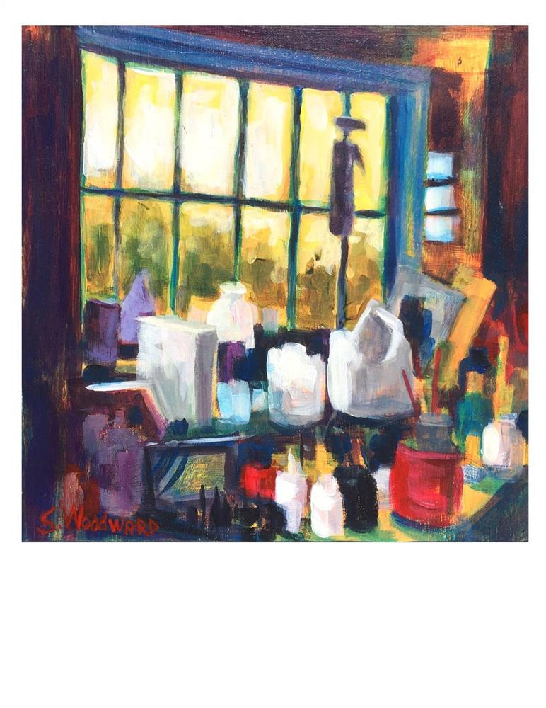 """Through the Barn Window"" original fine art by Suzanne Woodward"