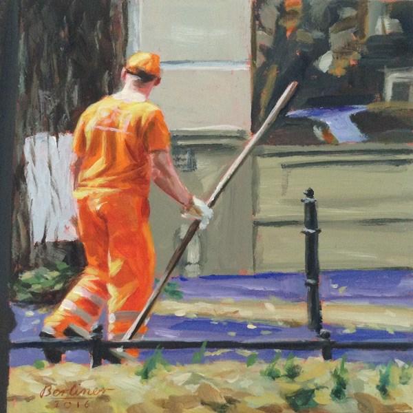 """045 Mann in Orange"" original fine art by Anja Berliner"