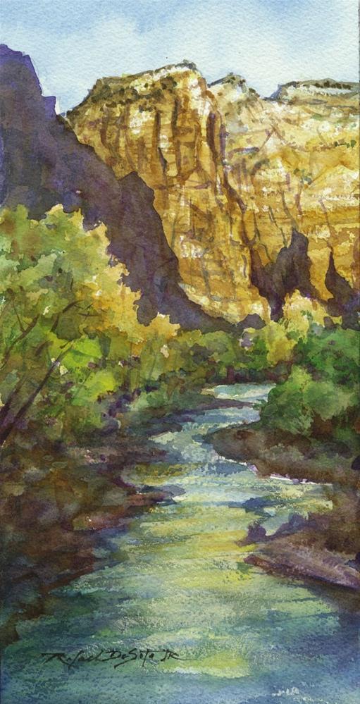"""Virgin River ar Zion"" original fine art by Rafael DeSoto Jr."