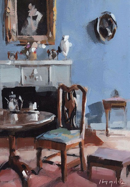 """Blue Room - Quick Study"" original fine art by David Lloyd"