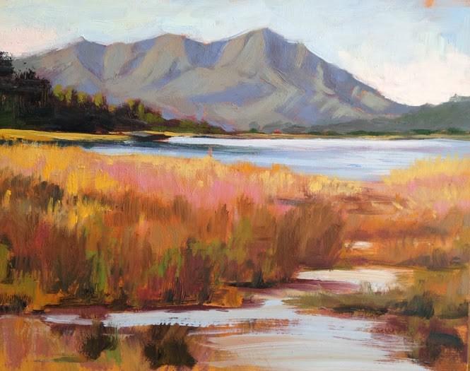 """""""Mt. Tamalpais"""" original fine art by Deborah Newman"""