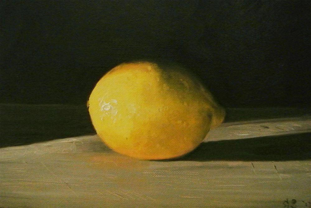 """Lemon"" original fine art by James Coates"