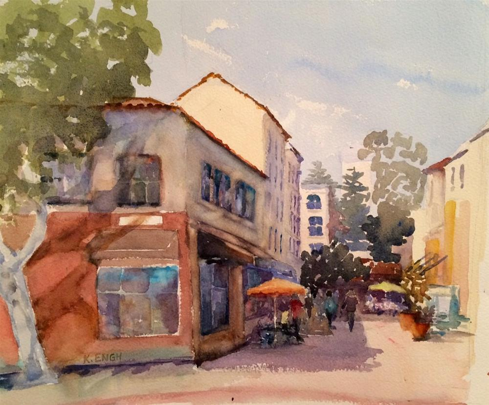 """San Luis Obispo - French Quarter Alley"" original fine art by Katharine Engh"