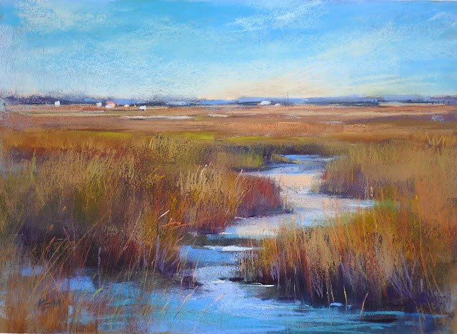 """Behind the Scenes: Another Painting Transformed into a Marsh"" original fine art by Karen Margulis"