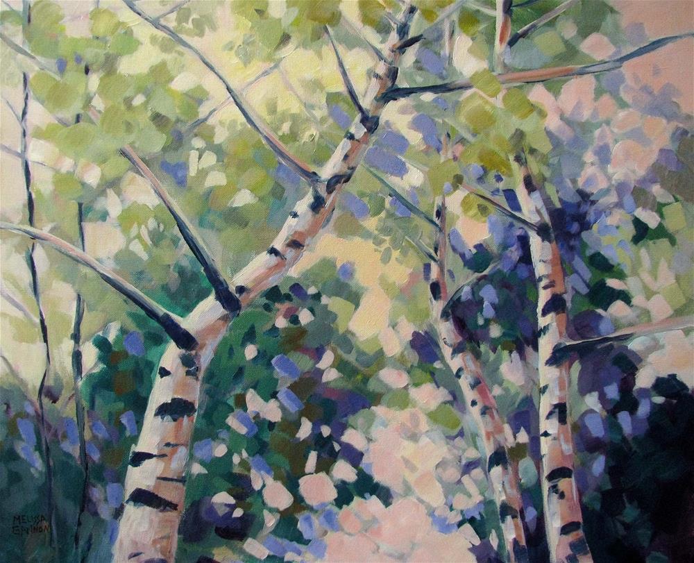 """Upward Swirl"" original fine art by Melissa Gannon"