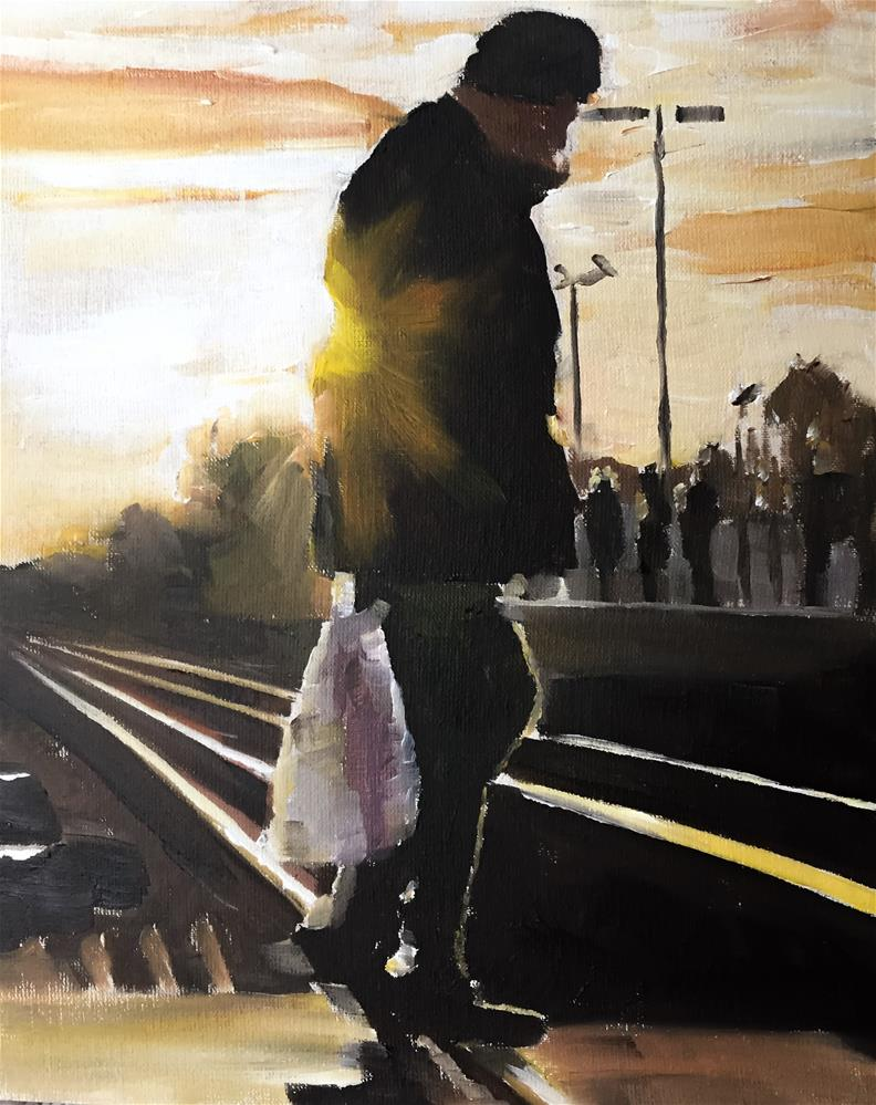 """On the Tracks"" original fine art by James Coates"