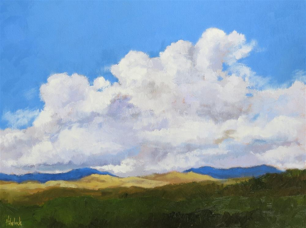 """Hovering Clouds"" original fine art by Pam Holnback"