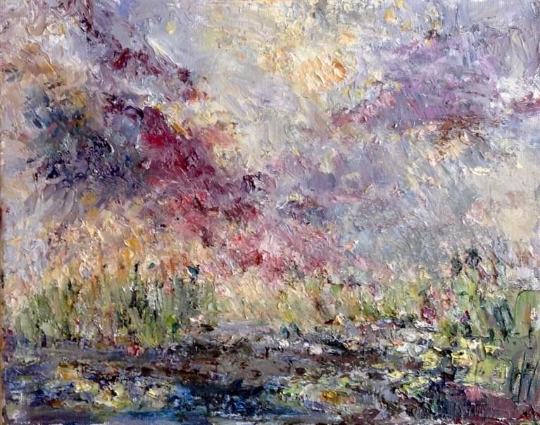 """A Spectacular Finish"" original fine art by Judy Usavage"