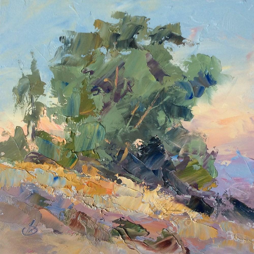 """MORNING OVERLOOK"" original fine art by Tom Brown"