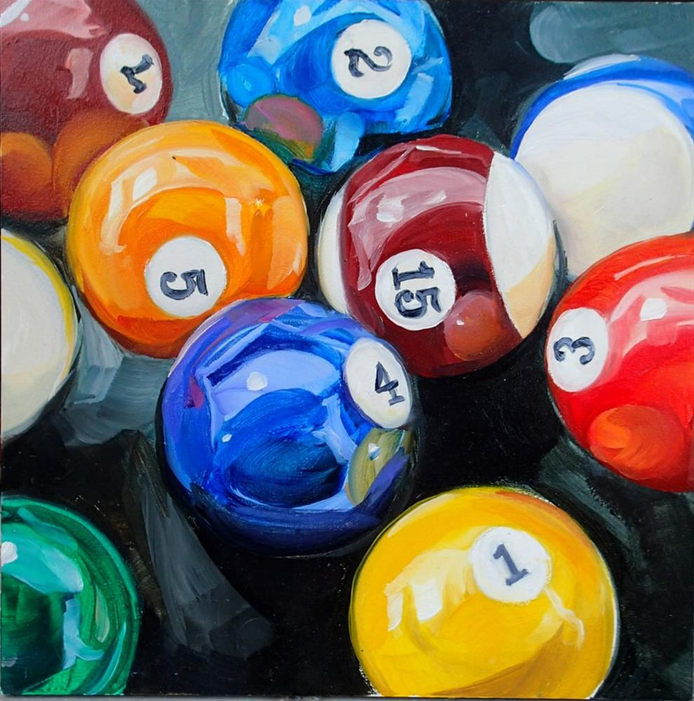 """Pool Sharks"" original fine art by Lauren Kuhn"