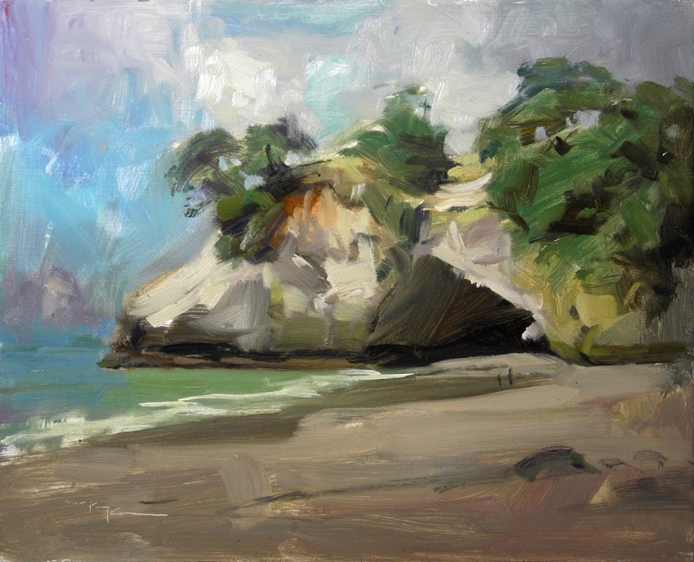 """Cathedral Cove"" original fine art by Richard Robinson"