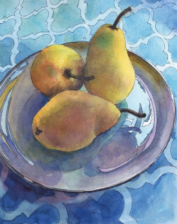 """Pen and Ink Watercolor: Lean In Three (new demo video)"" original fine art by Belinda Del Pesco"