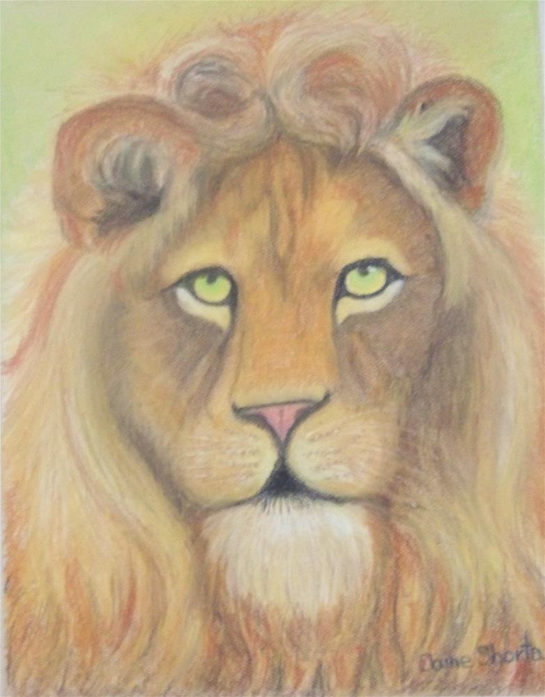 """""""Jungle King"""" original fine art by Elaine Shortall"""