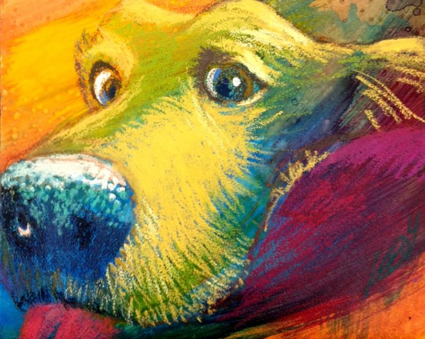 """""""Cookie ?"""" original fine art by Jeff Leedy"""