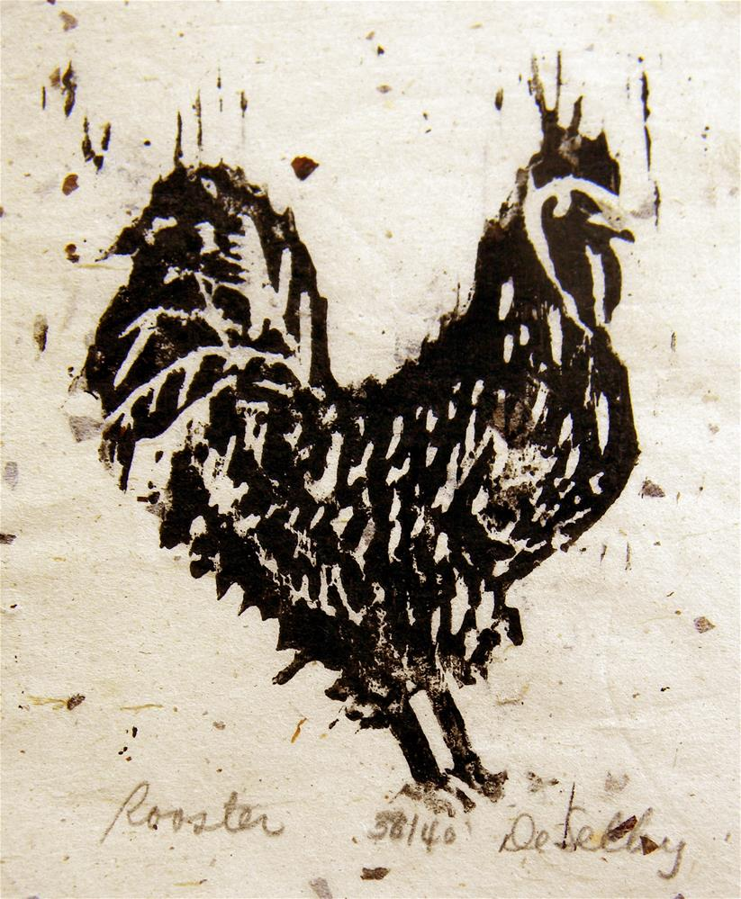 """Rooster"" original fine art by De Selby"