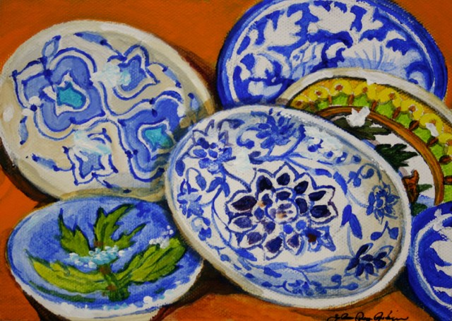 """Little Plates"" original fine art by JoAnne Perez Robinson"