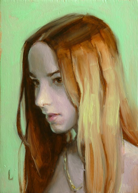 """Gold Chain"" original fine art by John Larriva"
